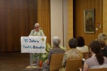 Ingrid Schmidt, Sprecherin des Textilbündnisses bei Ihrer Ansprache